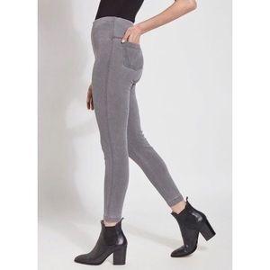 Lysse toothpick denim control top leggings gray
